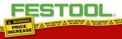 Festool Price Increase April 2014