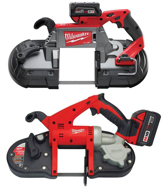 Milwaukee M18 Cordless Band Saw Brushless vs Brushed Motor