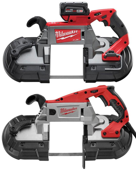 Milwaukee M18 Fuel Cordless and Corded Band Saws