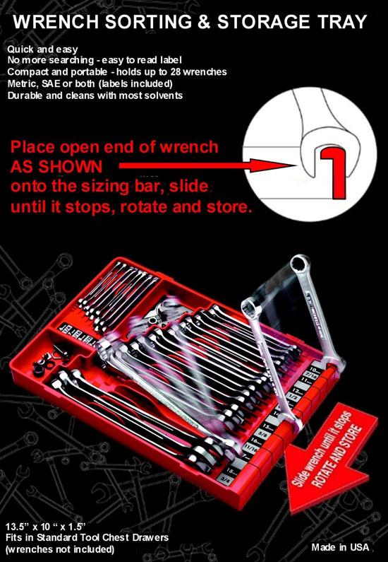 Sortatool Wrench Tray Instructions