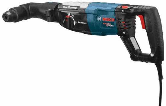 bosch right angle drill. bosch rotary hammer with rha-50 right angle attachment drill e