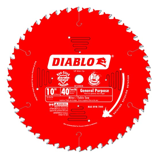 Diablo 10 table saw and miter saw blade reviews for 10 inch table saw blades