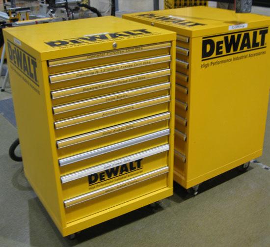 Dewalt Custom Finish Industrial Tool Cabinets