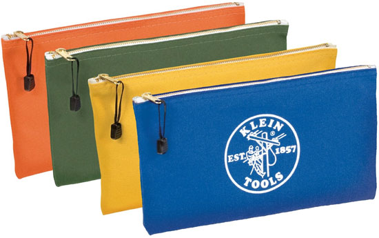 Klein Zippered Canvas Bags