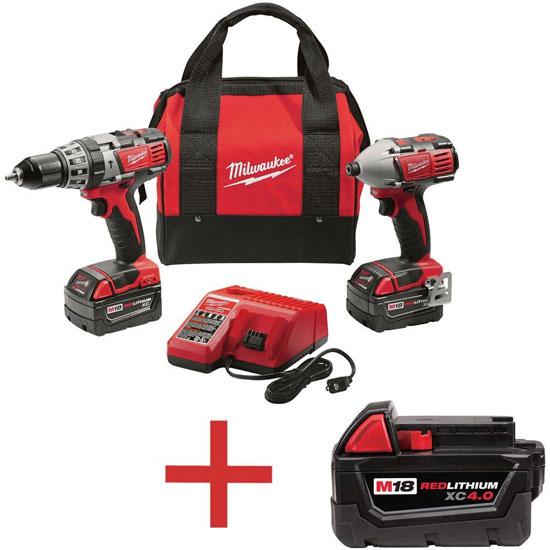 Milwaukee M18 Tool Kit Free Battery Promo