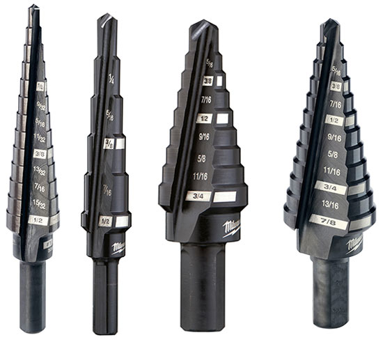 New Milwaukee Usa Made Step Drill Bits