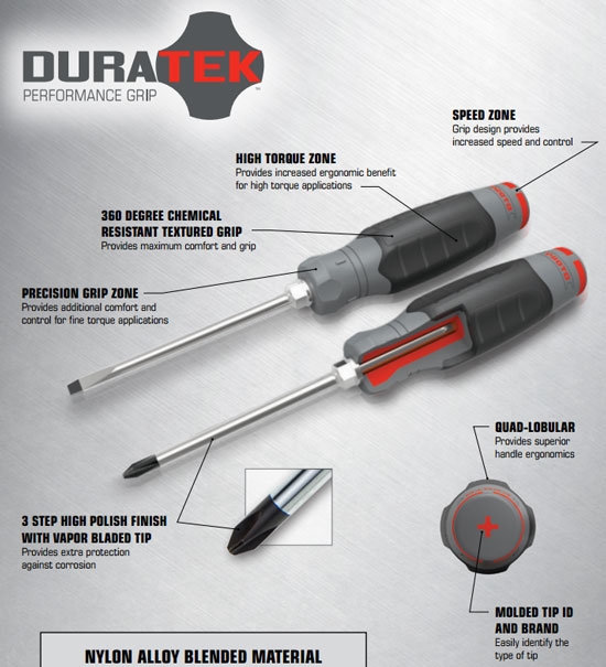 Proto Duratek Screwdriver Features