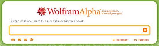 Wolfram Alpha Input Box