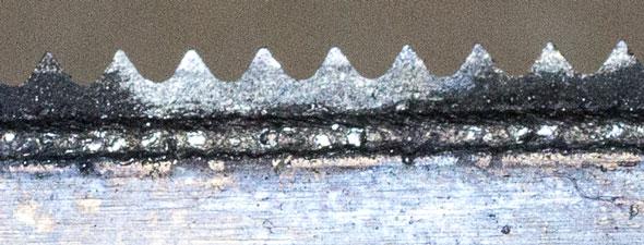Bosch OMT Blade Wear Closeup