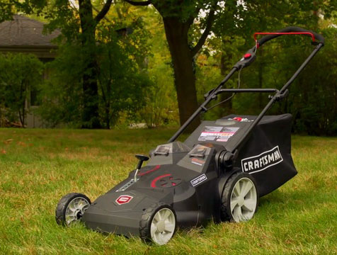 Craftsman 40v mower on lawn