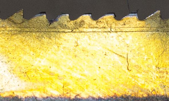 Dewalt OMT Blade Wear Closeup