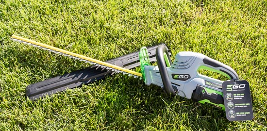 EGO Hedge Trimmer on grass