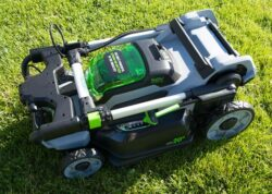 EGO mower folded