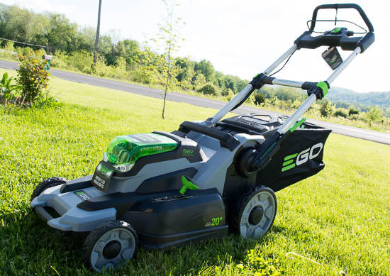 EGO mower left side view