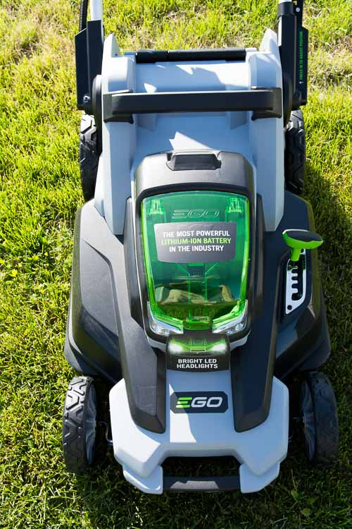 EGO mower top down view