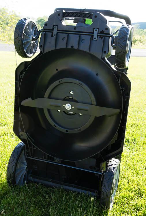 EGO mower underside