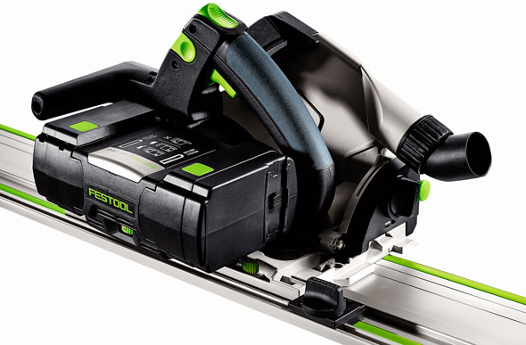Festool TSC 55 Cordless Saw on Track