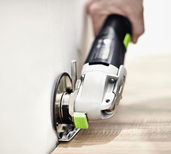 Festool Vecturo Oscillating Tool Flush Cutting