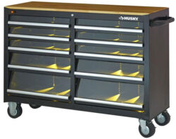 New Husky 52″ Tool Cabinet with LED-Lit Drawers