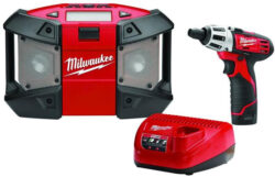 Milwaukee M12 Radio with Free Cordless Screwdriver