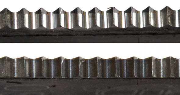 Bosch OMT Blade Carbide Teeth Wear