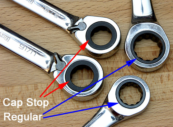 Cap Stop vs Non Cap Stop Ratcheting Wrenches