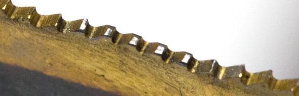 Dewalt OMT Blade Tooth Tops Closeup