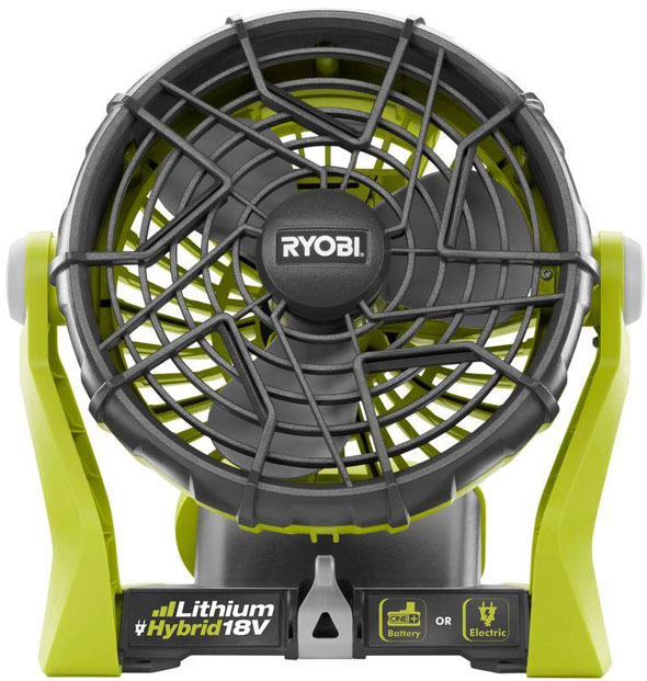 Ryobi 18V One+ Cordless Fan with Plug-in Option