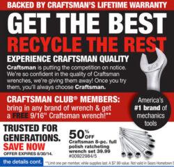 Craftsman Free Wrench Promo 2014