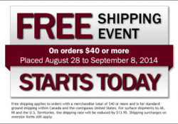 Lee Valley Free Shipping, Aug/Sept 2014