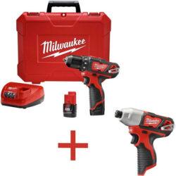 Milwaukee M12 2407 Drill Bonus Combo