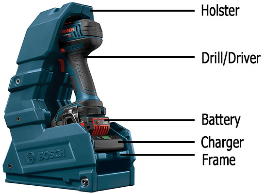 Bosch 18V Wireless Charging System All Components