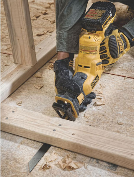 Dewalt DCS387 Reciprocating Saw Flush Cutting