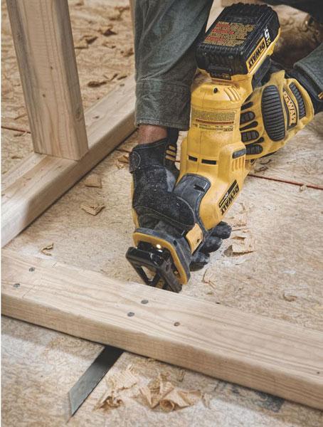 Dewalt DCS387 Reciprocating Saw Flush Cutting