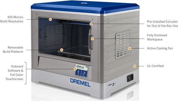 Dremel 3D Printer 3D20 Features