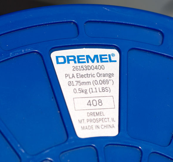 Dremel 3D Printer Filament Label