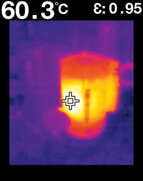Flir TG165 Example Image Motor Overheating