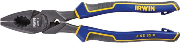 Irwin 1902416 high leverage linemans pliers with fish tape puller and crimper