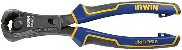 Irwin 1902421 end-cutting pliers with PowerSlot