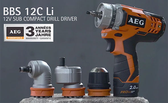 AEG Interchangeable Chuck 12V Drill System