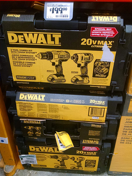 Dewalt 20V Drill and Impact Driver ToughSystem Bundle
