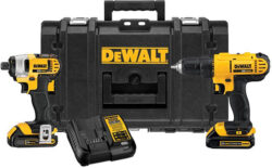 Deal: Dewalt 20V Max Drill, Impact, ToughSystem Tool Box Combo for $199