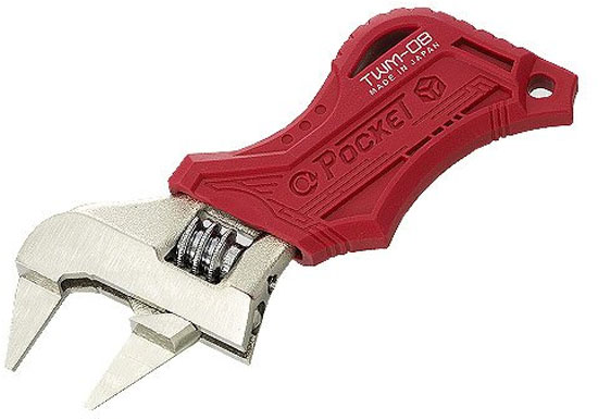 'Engineer Pocket Thin Jaw Adjustable Wrench' from the web at 'http://toolguyd.com/blog/wp-content/uploads/2014/10/Engineer-Pocket-Thin-Jaw-Adjustable-Wrench.jpg'