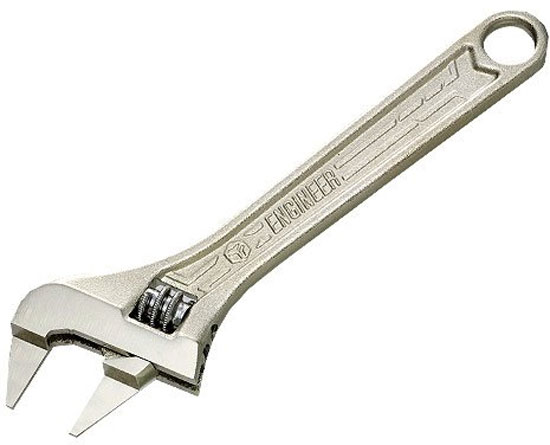 Engineer Thin Jaw Adjustable Wrench