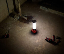 Milwaukee M18 TrueView LED Lantern Beam Pattern