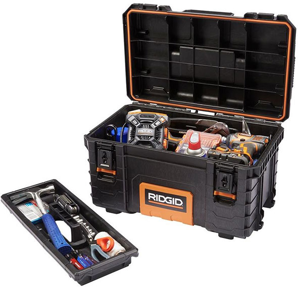 Ridgid Pro Tool Box Filled with Tools