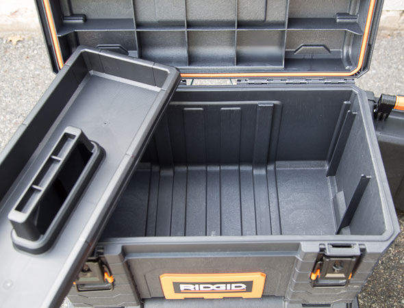 Ridgid Pro Tool Box Open with Tray