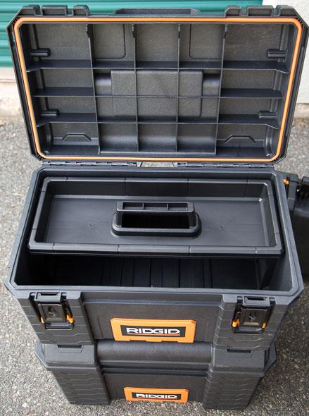 Ridgid Pro Tool Box Open