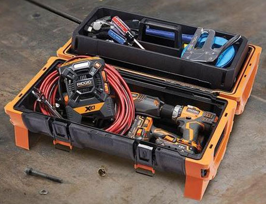 Ridgid Pro Tube Tool Box Filled with Tools