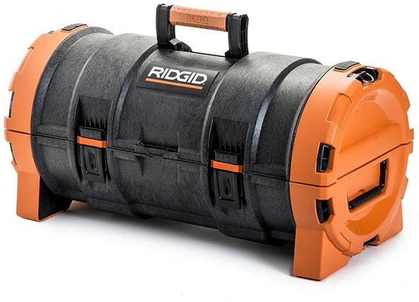 This black RIDGID 22 in. organizer box is made with durable, high-impact resin and constructed to last. It offers heavy-duty metal latches and features an integrated water seal to protect against water and dust intrusion. This organizer works with the RIDGID Pro Tool Storage System for a 4/5().